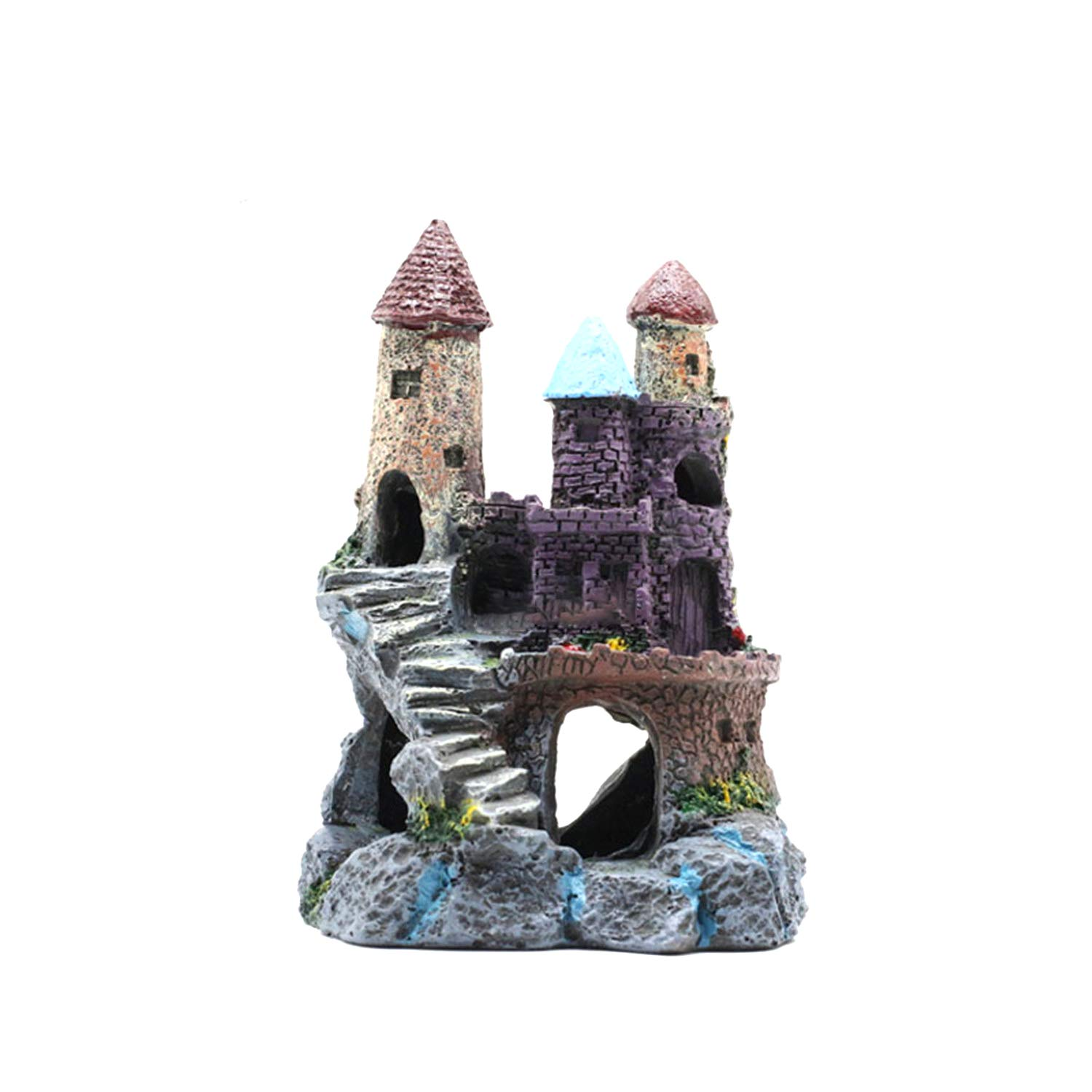 G Aquarium Decorations Castle Aquarium Ornament Super Castle Ruin,G