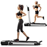 Murtisol 2 in 1 Folding Treadmill, 1.5HP Under Desk Electric Treadmill, Installation-Free with APP, Remote Control and…