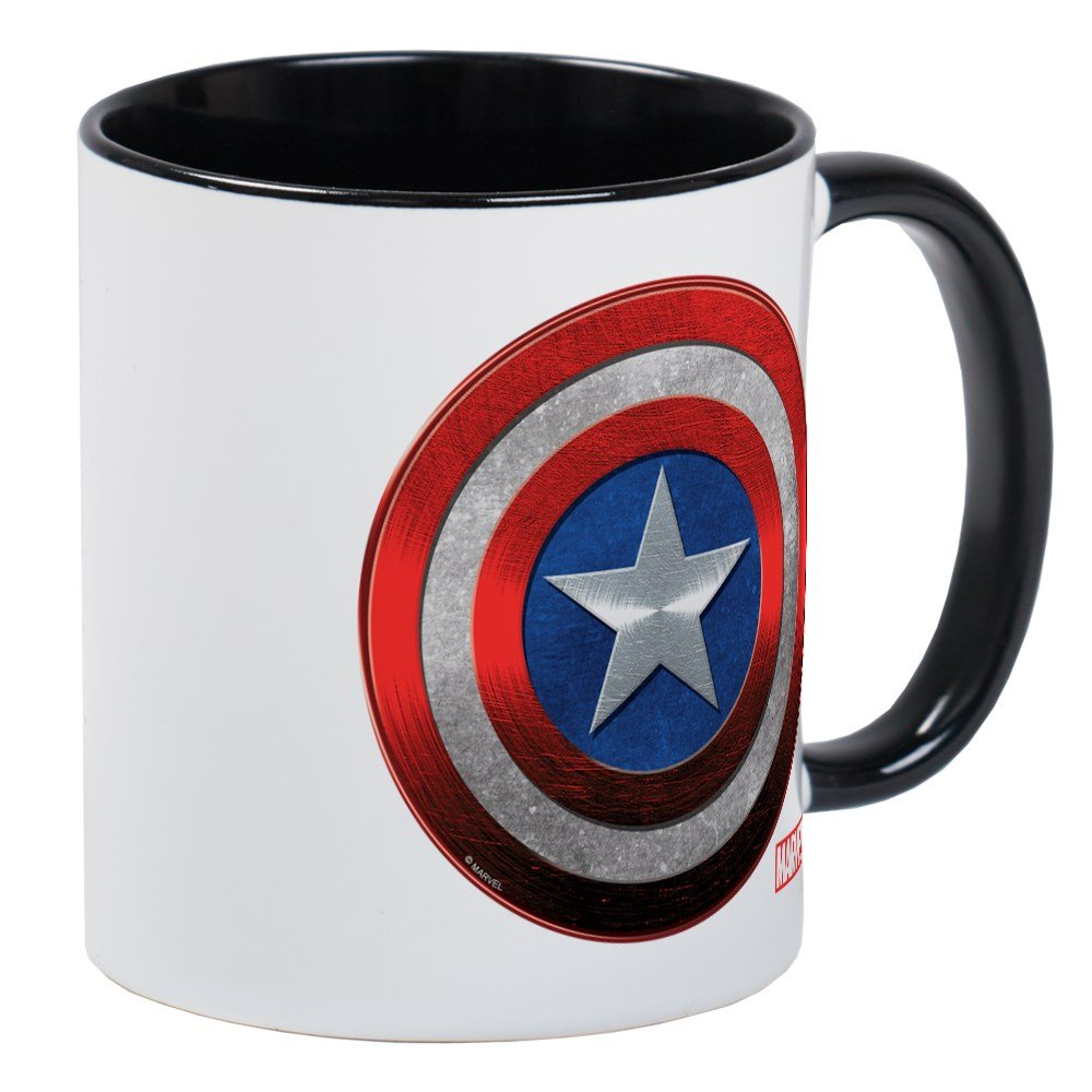 CafePress - Captain America Grunge Mug - Unique Coffee Mug, Coffee Cup