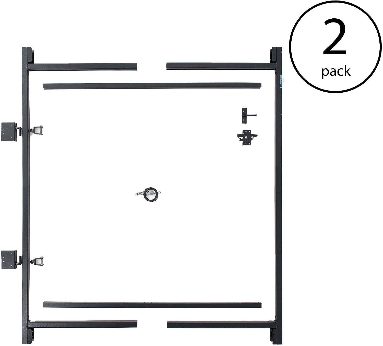Adjust-A-Gate Steel Frame Gate Building Kit, 60 -96 Inch Wide Opening 2 Pack