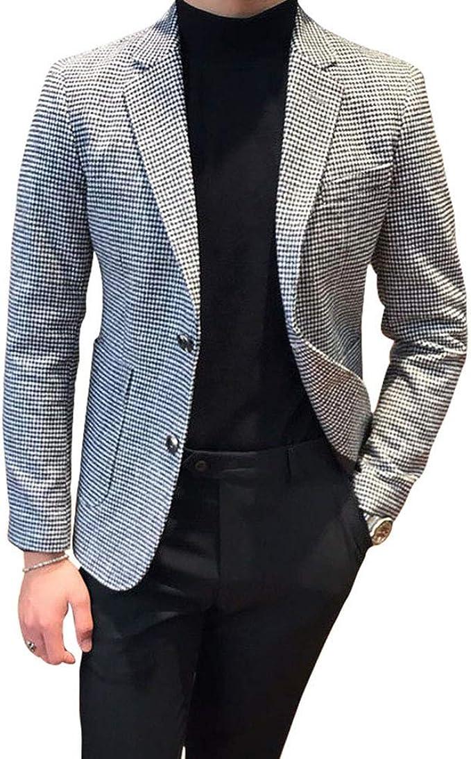 Mens Jacquard Paisley Grid Houndstooth Groom Tuxedos Wedding Suits British Style