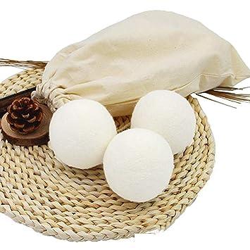 TXDY Bolas de la Secadora, suavizante Reutilizable 100% Natural para Telas Reduce Las Arrugas