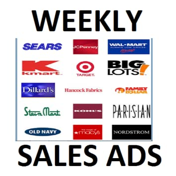 Weekly Sale Ads Coupons Of All Major Department Stores Supermarkets No Ads