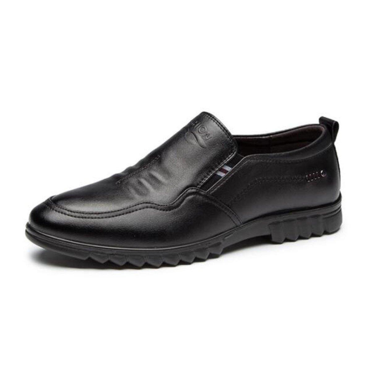 Hombres Zapatos Casuales Cuero Juegos De Pies Zapatos De Padre 43 EU|Blackshoes Blackshoes