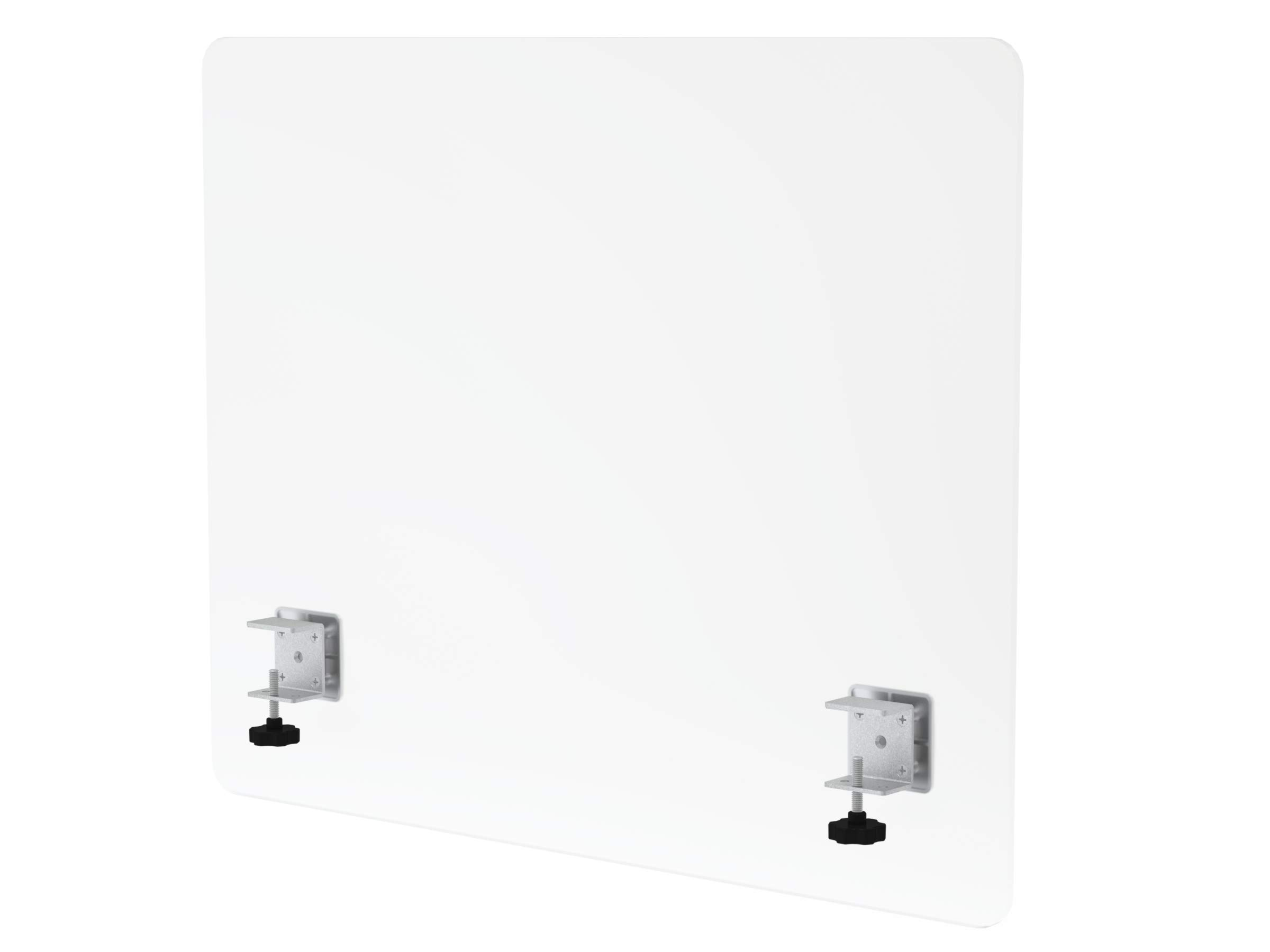 """VaRoom Privacy Partition, Frosted Acrylic Clamp-on Desk Divider – 30"""" W x 24""""H Privacy Desk Mounted Cubicle Panel by VaRoom (Image #1)"""