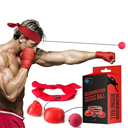 Fight Boxing Ball Reflex - Vjoy Punch Trainer Exercise for Gym, Boxing, MMA  and Other Combat Sports