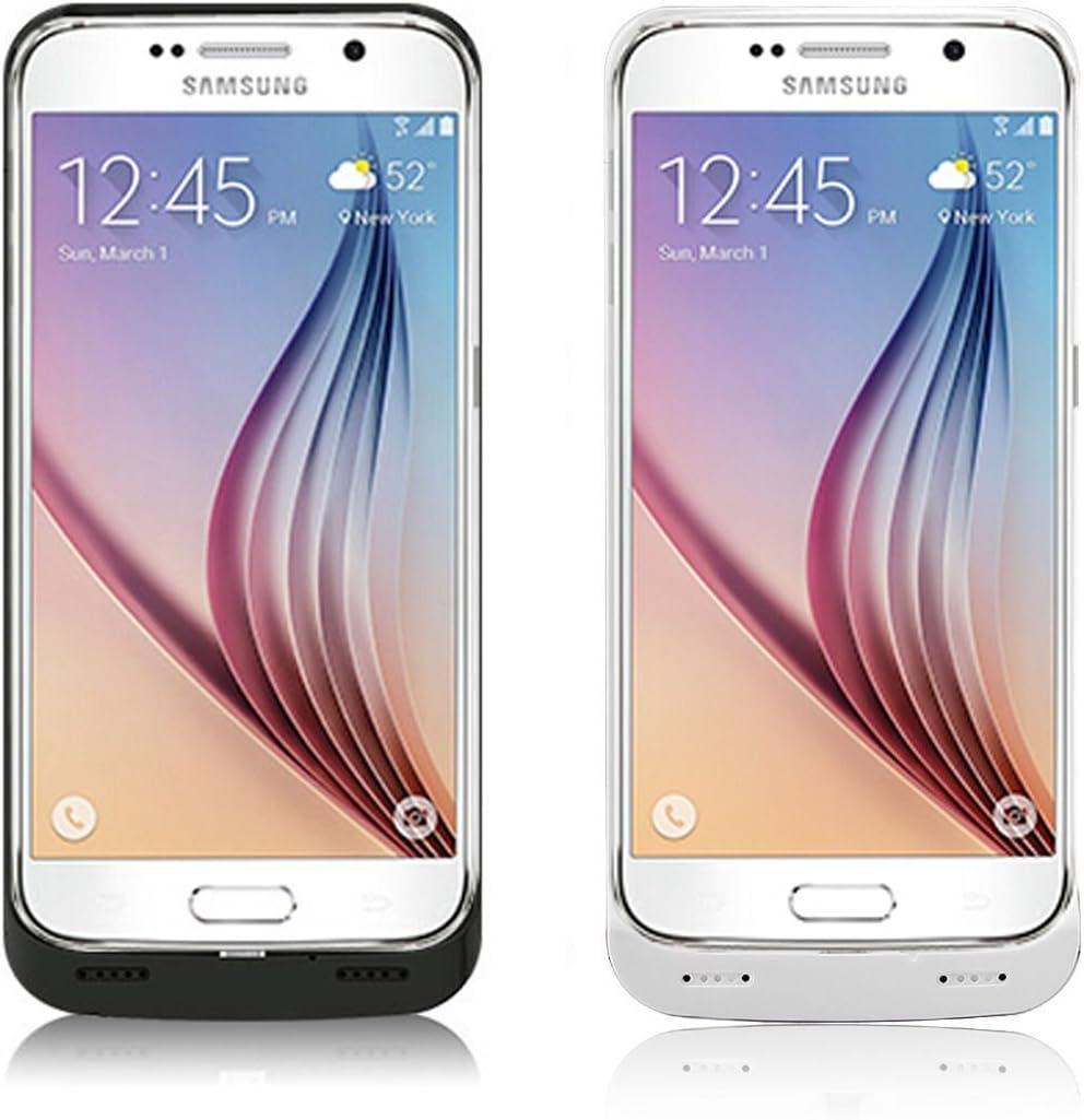 4200 mAh batería externa con soporte para Samsung Galaxy S6, negro ...