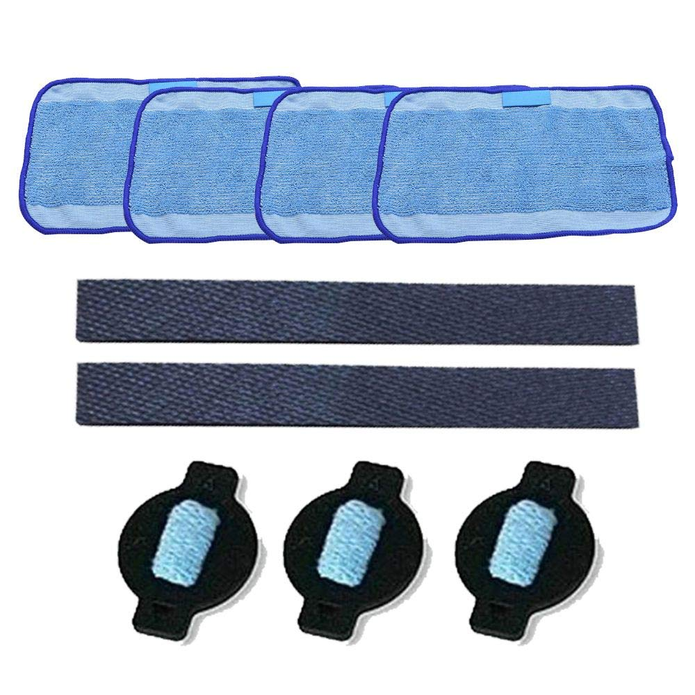 SMILESSGSP Wheel tire mop Cloth Water Replacment for iRobot 320 380 381 390 Mint 4200 4205 5200