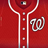 Sports and Tailgating MLB Party Washington Nationals Luncheon Napkins Tableware, Paper, 6'' x 6'', Pack of 36