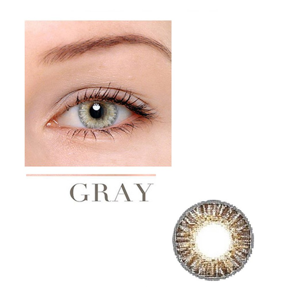 Women Multicolor Cute Charm and Attractive Fashion Contact Lenses Cosmetic Makeup Eye Shadow - Grey