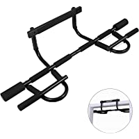MUSCOACH Pull Up Bar for Doorway,Door Frame Pull-up Bar Body Workout,Multifunctional Portable Chin Up Bar No Screws…