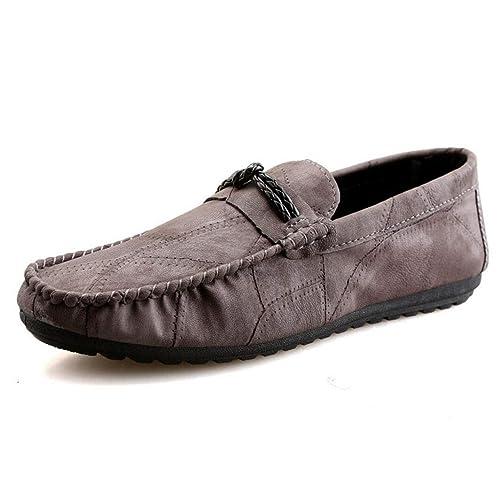 2018 Calzado de Hombre Slip On Comfort Driving Car Mocasines de Cuero Casual Zapatos Fiesta Informal y Noche Al Aire Libre YAN: Amazon.es: Zapatos y ...