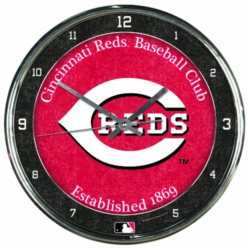 MLB Cincinnati Reds Chrome Clock, 12