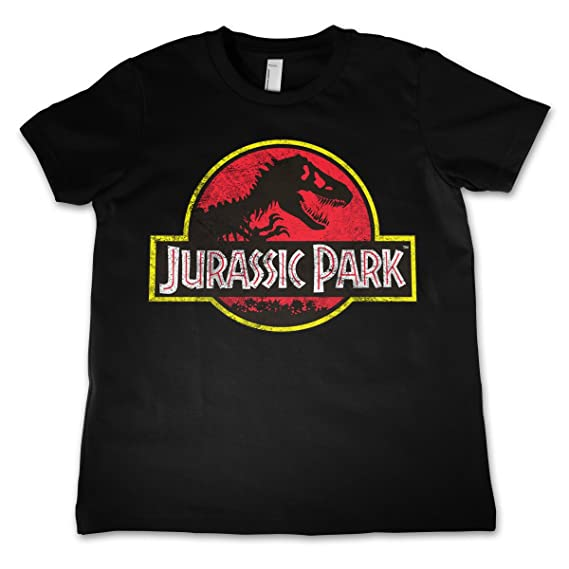 4ab526e70 Amazon.com: Officially Licensed Jurassic Park Distressed Logo Unisex Kids T- Shirt Ages 3-12 Years: Clothing