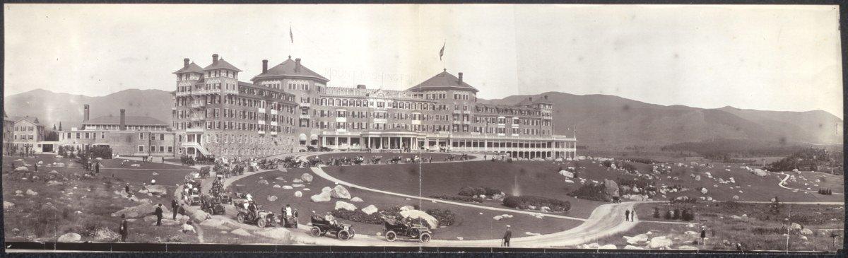 c1905 Mount Washington Hotel & Glidden tourists 24'' Vintage Panorama photo