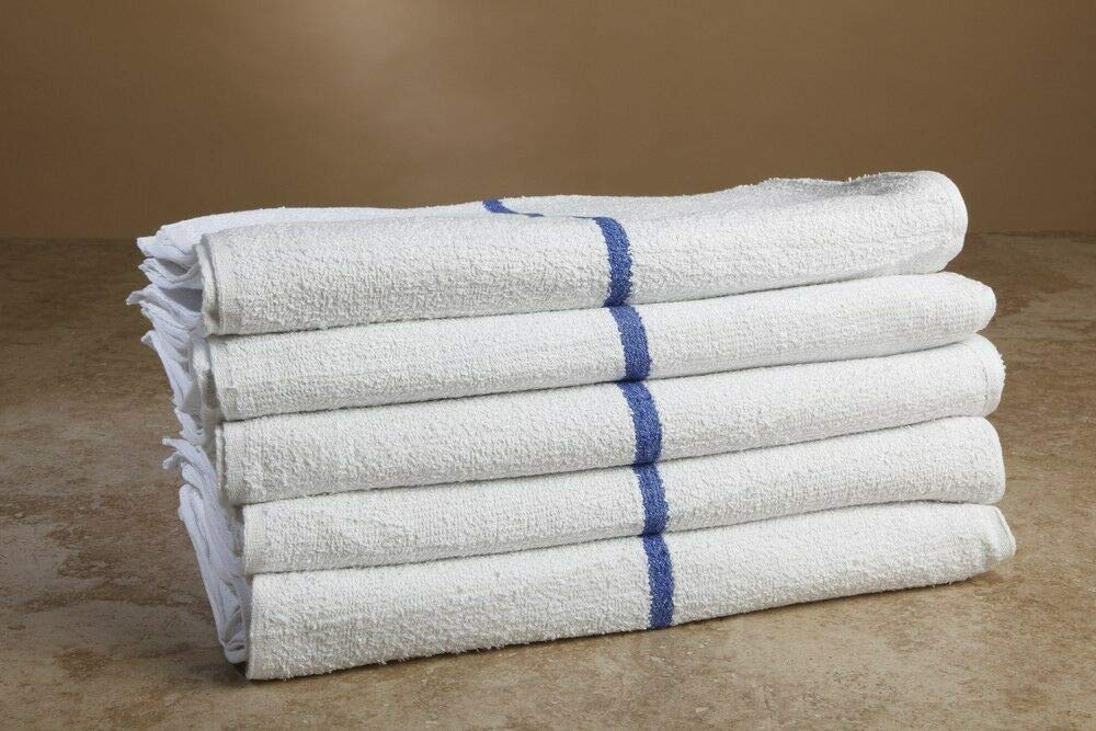 60 White/Blue Towels Premium Terry Cloth Bar Mop 16x19 Business & Industrial Cleaning Supplies by Unknown (Image #1)