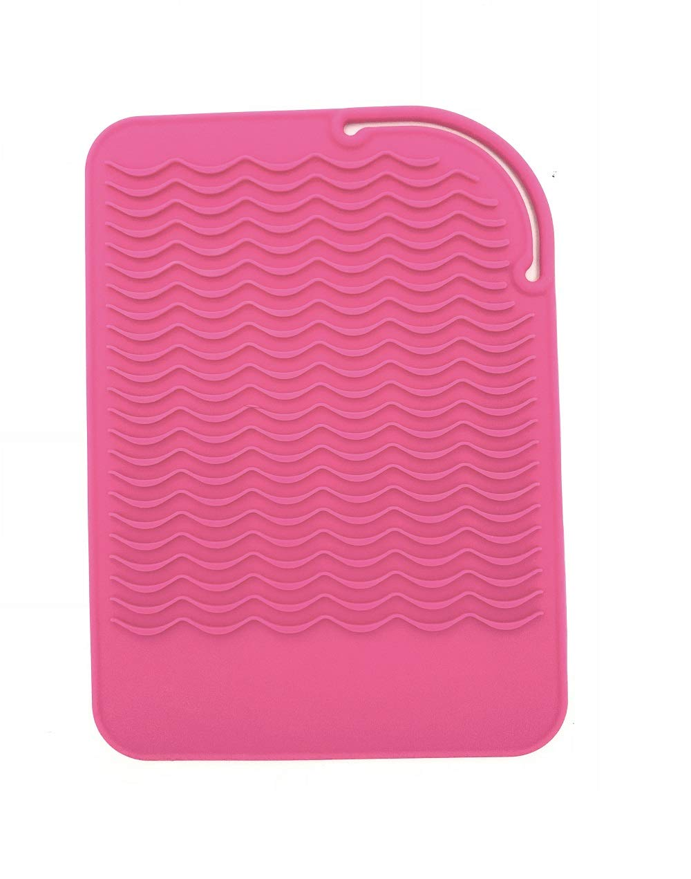 """Heat Resistant Mat for Curling Irons, Hair Straightener, Flat Irons and Hair Styling Tools 9"""" x 6.5"""", Food Grade Silicone, Pink: Beauty"""