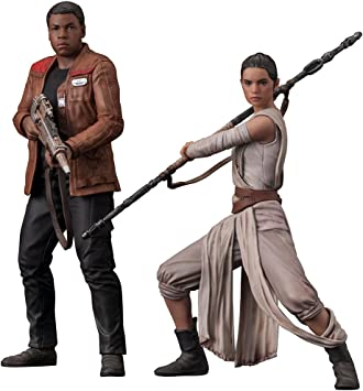 1//10 Scale Figures Kotobukiya New Star Wars Rey /& Finn Force Awakens ArtFX