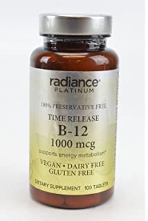 Radiance Platinum 100% Preservative Free Vitamin B-12 1000 MCG Supports Energy Metabolism VEGAN