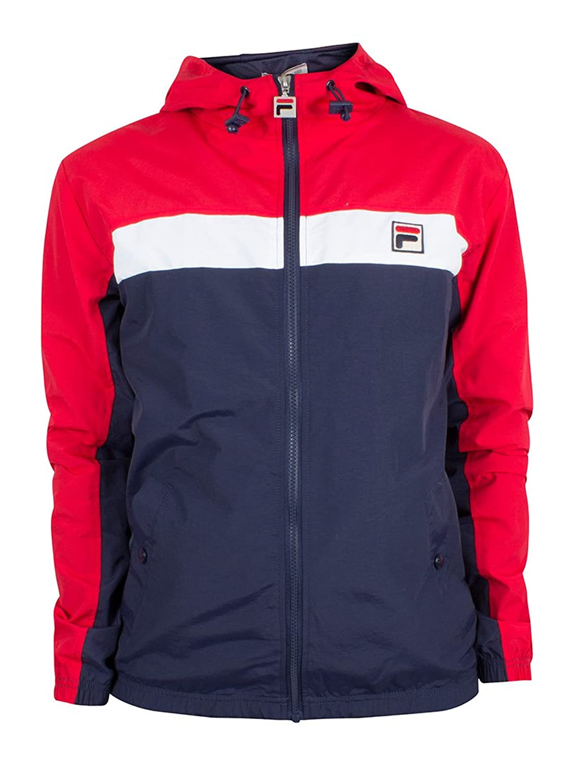 Mens Fila Clipper Peacoat Chinese Red Hooded Jacket: Amazon