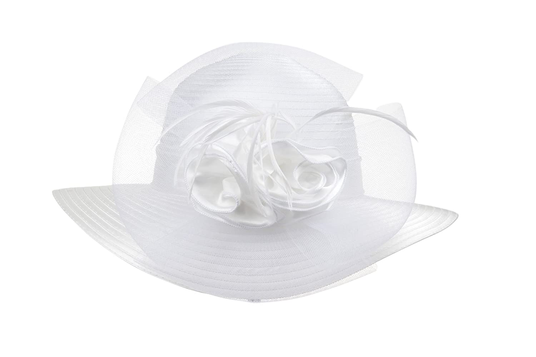Prefe Ladys Kentucky Derby Dress Church Cloche Hat Bow Bucket Wedding  Bowler Hats One Size  471eb2f11e43