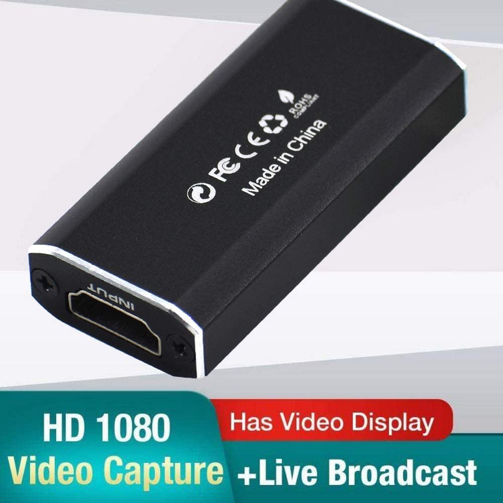 Teaching Hengyuanyi Video Capture Card HDMI to USB 2.0 Live Streaming HD 1080P 30fps Audio Record via DSLR Camcorder Action Cam for Gaming Video Conference/&Live Broadcasting