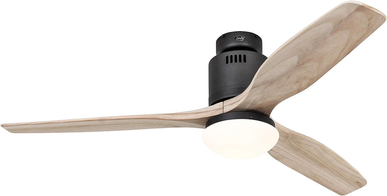 Casafan - Ventilador de techo Aerodynamix Eco 132 BG aspas de madera natural