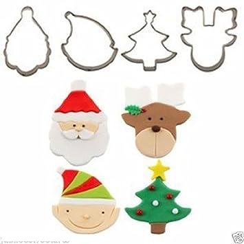 Juego de mini galletas de Navidad Santa Claus renos árbol Otoño Carpenter: Amazon.es: Hogar