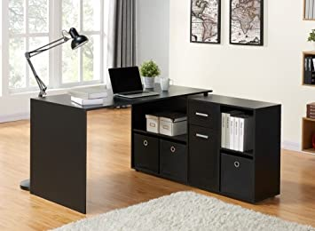 Stunning New Adjustable Corner Computer Desk With Shelves And
