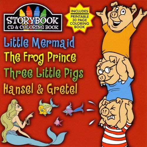 (Story Book Cd & Coloring Book: Little Mermaid, The Frog Prince, Three Littl)