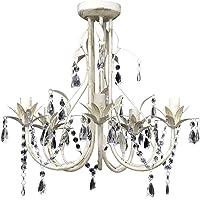 vidaXL Lámpara Colgante de Cristal de Techo Araña Elegante 5 portalámparas