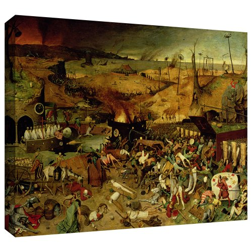 ArtWall Pieter Bruegel 'The Triumph of Death' Gallery Wrapped Canvas Art, 24 by 32-Inch from ArtWall