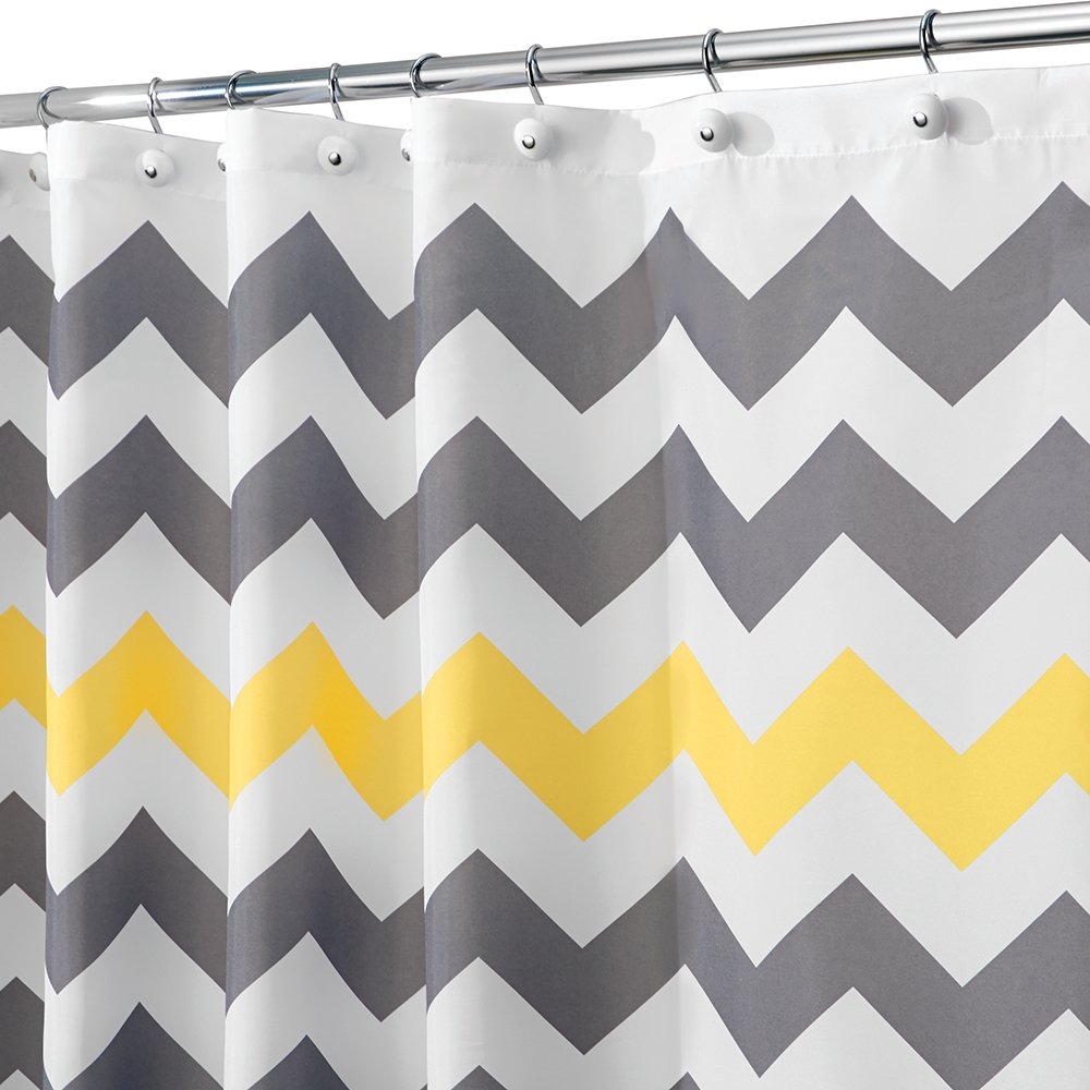 Bon Amazon.com: InterDesign Chevron Shower Curtain, 72 X 72 Inch, Gray/Yellow:  Home U0026 Kitchen