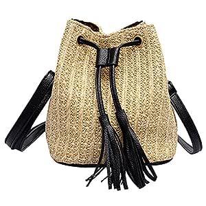 felicove Vintage borla mujeres de tejer Bandolera Messenger Bag ...
