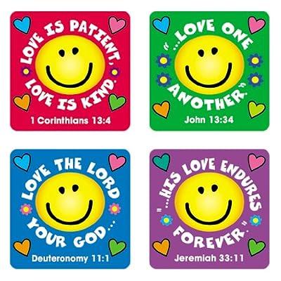 Carson Dellosa | Love Verses Christian Stickers | .8-inch x .8-inch, 120ct: Carson-Dellosa Christian Publishing: Office Products