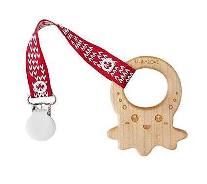 LULLALOVE MaMari - Mordedor de madera de arce en forma de ...