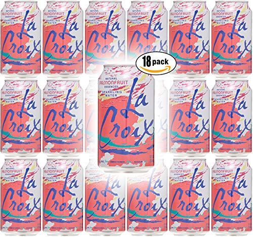 La Croix Passion Fruit Naturally Essenced Flavored Sparkling Water, 12 oz Can (Pack of 18, Total of 216 Oz) from La Croix