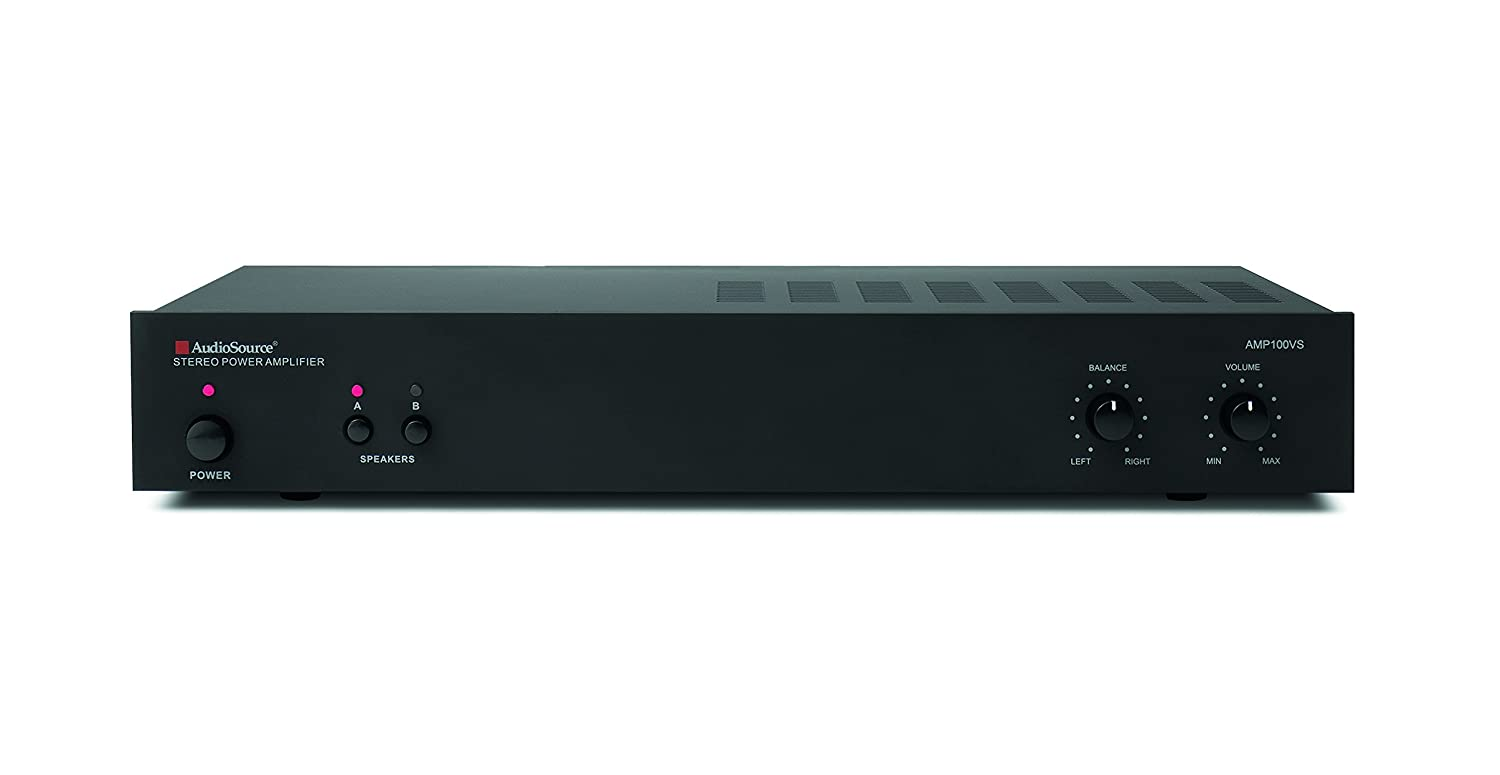 AUDIOSOURCE Amp100vs 2 Channel Analog Power Amp 50 Watts Per Channel Retail Packaging Audio Source