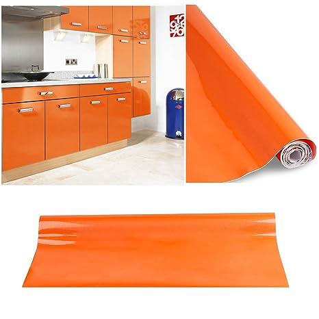 Carta adesiva 60 x 500 cm per Mobili Cucina adesivo arancione Carta ...