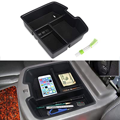 VANJING Center Console Organizer Insert Tray for 2007-2014 GMC Sierra Chevy Silverado Tahoe Yukon Suburban Accessories with A Cleaner Brush: Automotive