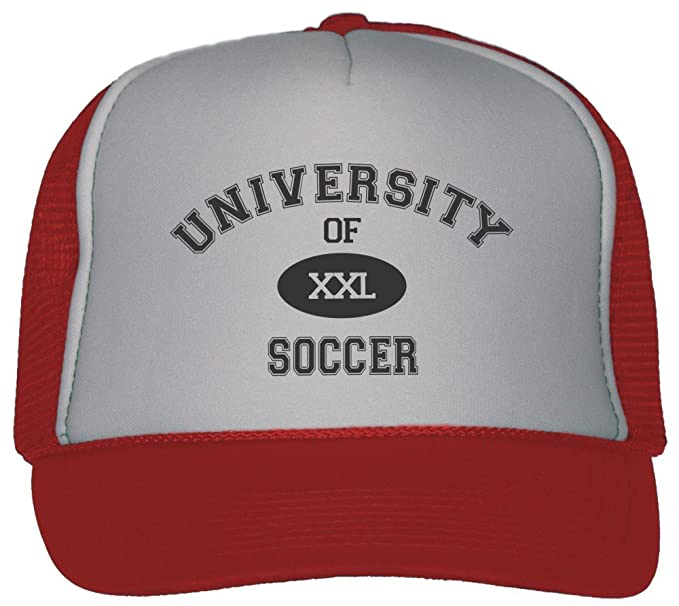 7d2f4c3ea5a47 Amazon.com  T-ShirtFrenzy University of XXL Soccer Trucker Hat Cap ...