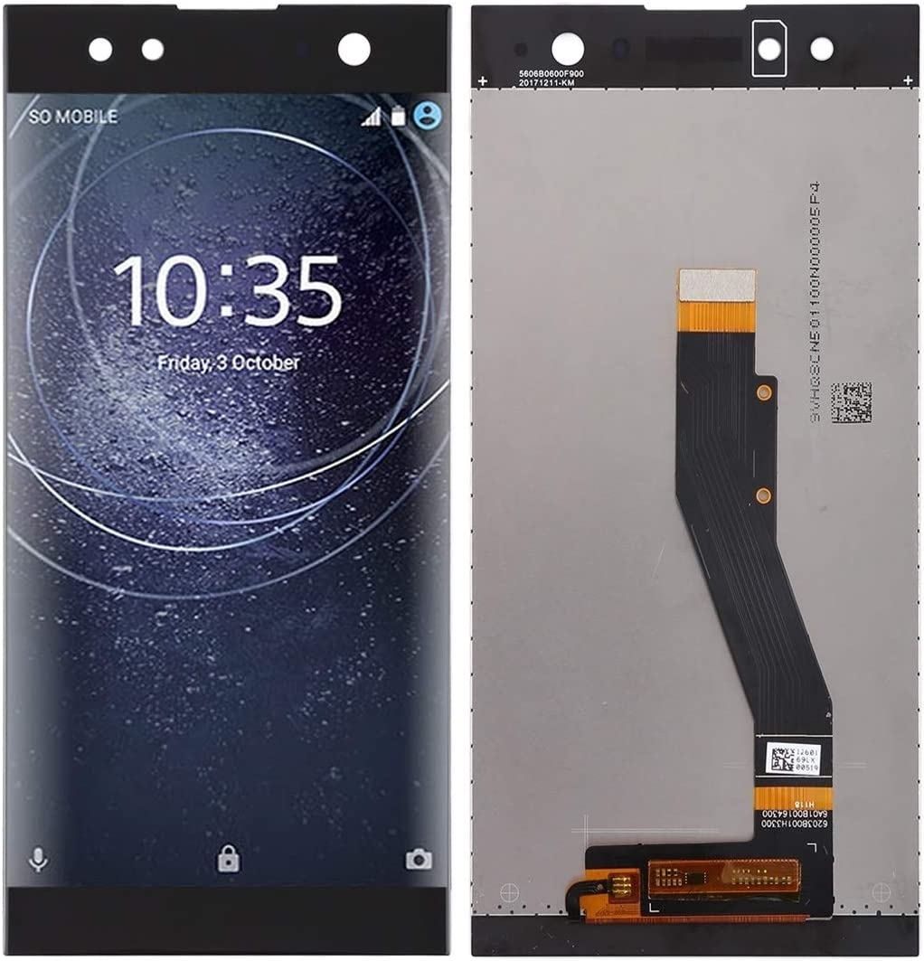 Color : Black Replace The Old LCD Assembly Replacement//Replace LCD Screen+Touch Screen and Digitizer Full Assembly for Sony Xperia XA2 Ultra Black