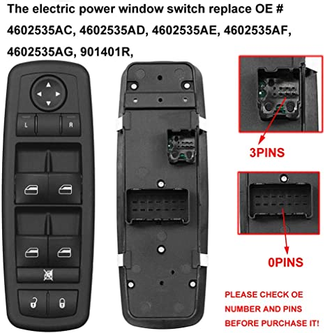 Laipi 4602535AC Professional Power Window Switch Button Interior Driver Side for Dodge