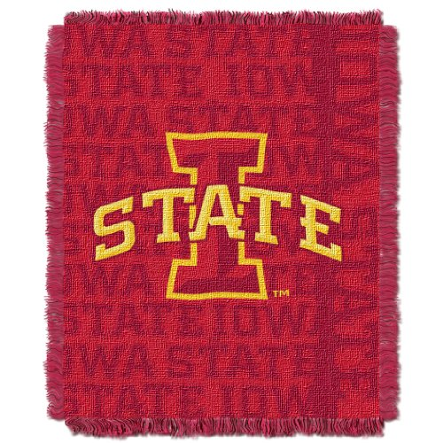 The Northwest Company Officially Licensed NCAA Iowa State Cyclones Double Play Jacquard Throw Blanket, 48