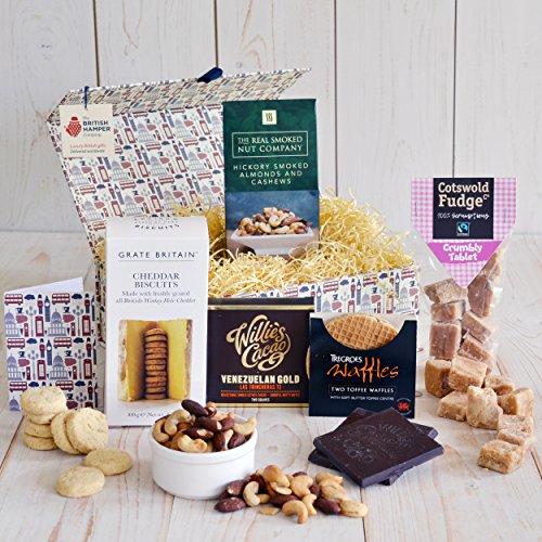 (Traditional British Treats Gift Basket - Free Gift Card - Artisan Food Gift Basket)