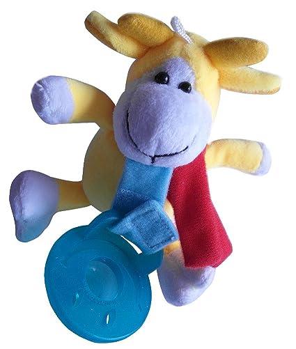 quner Chupete con afilar barem Peluche extraíble chupetes para niños/Bebés Alimentos silicona Gelbe Kuh Talla:1