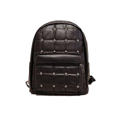 de87b717c3cf ZEN リュック 黒 PUレザー リベット スタッズ 通学 通勤 旅行 デイバッグ シンプル おしゃれ かわいい リュック