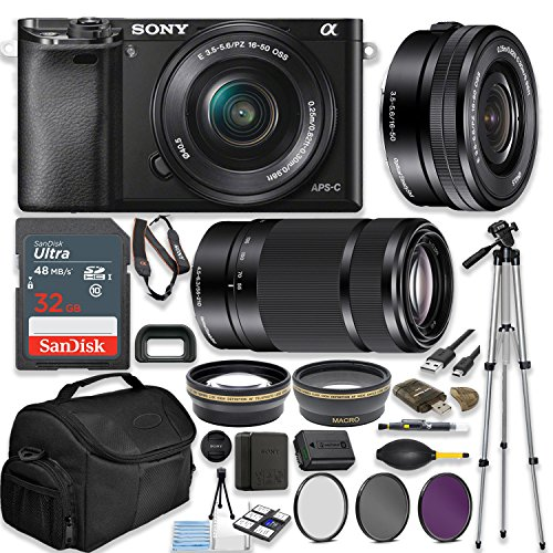 Sony Alpha a6000 24.3MP Mirrorless Digital Camera (Black) for sale  Delivered anywhere in USA