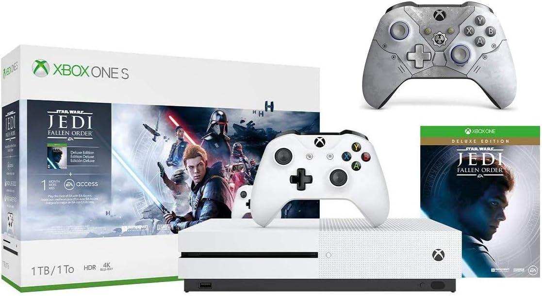 Microsoft Xbox One S 1TB Star Wars Jedi: Fallen Order Bundle + Gears 5 Kait Diaz Limited EditionWireless Controller | Include:Xbox One S 1TB Console ,Star Wars Jedi: Fallen Order, Wireless Controller