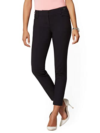 0cfc4b2185a57f Amazon.com: New York & Co. 7Th Avenue Pant - Hardware-Accent Ankle All-Season  Stretch: Clothing